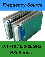 New Products: 0.2-20GHz full band frequency source