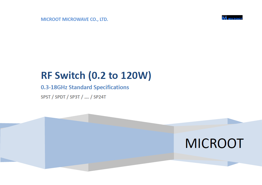 Up to 40GHz RF Switch Catalogue