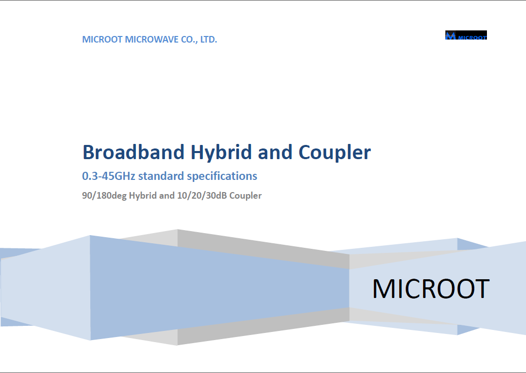 Up to 45GHz 3dB 90/180°Hybrid Coupler Catalogue